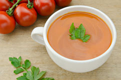 Soup. Tomato soup on a table Royalty Free Stock Photos