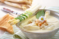 Soup of asparagus Stock Photos