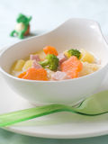 Soup for baby royalty free stock photo