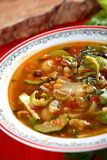 Soup with bean. Tasty soup with bean and other vegetables Royalty Free Stock Photography