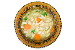 Soup with beans Stock Images