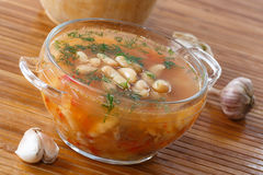Soup with beans Stock Photography