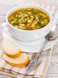 Soup with beans with dill Royalty Free Stock Photography