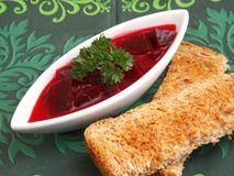 Soup of beetroot Royalty Free Stock Photo