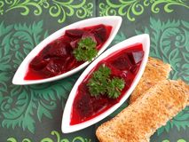 Soup of beetroot Stock Photography