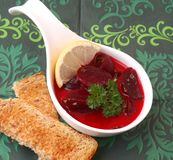Soup of beetroot Stock Images