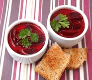 Soup of beetroot Royalty Free Stock Image