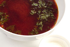 Soup borsch Stock Images