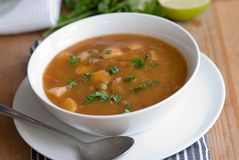 Soup in a bowl Stock Photography