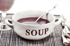 Soup in a bowl Royalty Free Stock Images