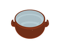 Soup bowl. On white background Stock Photography