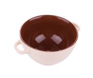 Soup bowl on background. Royalty Free Stock Photo