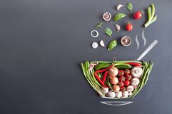 Soup bowl concept Royalty Free Stock Photography
