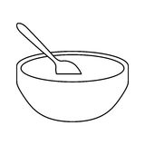 Soup bowl icon image Stock Photos