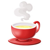 Soup in a bowl red Royalty Free Stock Image