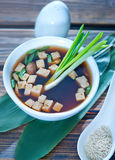 Soup in bowl Stock Image