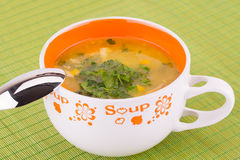 Soup in bowl Stock Photos