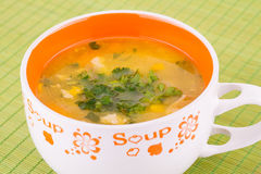 Soup in bowl Royalty Free Stock Photo
