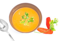 Soup bowl (view from above) Royalty Free Stock Photography