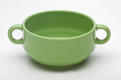 Soup bowl. On white background Stock Photos