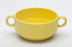 Soup bowl. A soup bowl yellow color Royalty Free Stock Photo