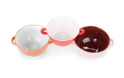 Soup bowls on background. Stock Photography