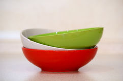 Soup bowls Royalty Free Stock Image