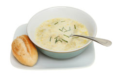 Soup and bread Royalty Free Stock Photography
