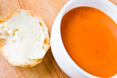 Soup and bread Royalty Free Stock Image