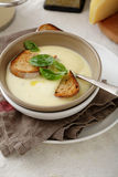 Soup with bread Stock Photography