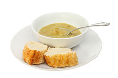 Soup and bread Royalty Free Stock Images