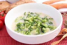 Soup of broccoli Royalty Free Stock Photography