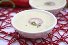 Soup of broccoli Stock Photos