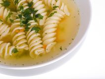 Soup, broth Stock Image