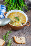 Soup with buck. Royalty Free Stock Images