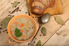 Soup with buckwheat and vegetables. Royalty Free Stock Images