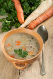 Soup with buckwheat and vegetables. Stock Photography