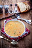 Soup with buckwheat and vegetables. Royalty Free Stock Photography
