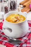 Soup with buckwheat and vegetables. Stock Photo