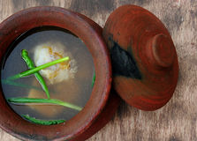 Soup Bulalo (Beef Marrow Stew). Food from the Philippines; Soup Bulalo (Beef Marrow Stew) Bulalo is a soup dish consisting of beef shanks and bone marrow. (Food royalty free stock image