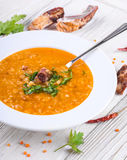 Soup of bulgur royalty free stock images