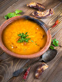 Soup of bulgur stock image