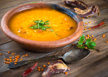 Soup of bulgur Stock Photo