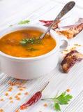 Soup of bulgur stock images