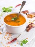Soup of bulgur royalty free stock image