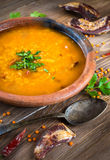 Soup of bulgur royalty free stock photography