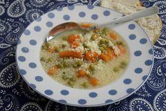 Soup of bulgur and vegetables Royalty Free Stock Photography