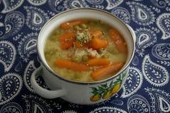 Soup of bulgur and vegetables Stock Photos