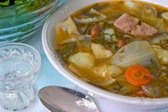 Soup with cabbage, borscht Royalty Free Stock Photos