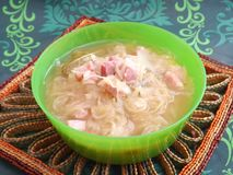 Soup of cabbage Stock Image